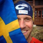 fredrik strang and swedish flag