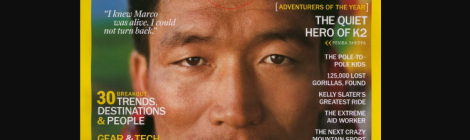 4 of the best sherpa climbers still alive. pemba gyalje Sherpa on the cover of nat geo