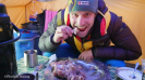 Fredrik Strang eating Baltoro Glacier Goat k2 2017