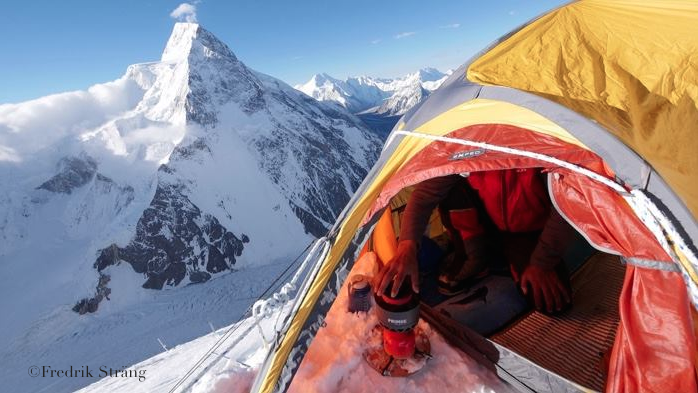 Fredrik Strang's tent life on k2 2017