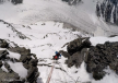 """Just before the """"Black Pyramid"""" Abruzzi Spur on K2."""