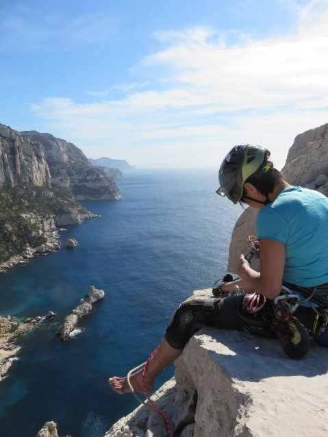 Wendy Ong at the Top of ANPE Calanque