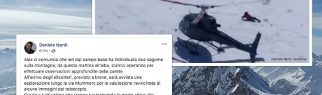 daniele nardi and tom ballard rescue update. silhouettes found on Nanga Parbat by Alex Txikon