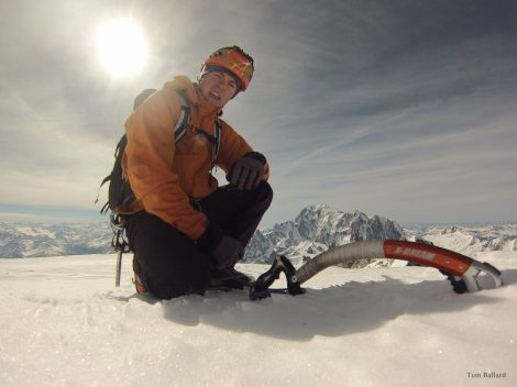 tom ballard summt of GRANDES JORASSES