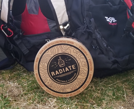 Radiate Portable Campfire Review view of front of tin