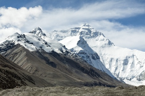 mount Everest view from tibet