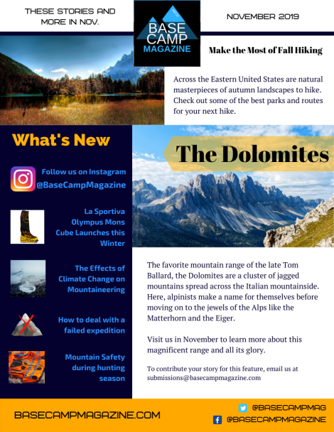 Base Camp Magazine November 2019 Newsletter png