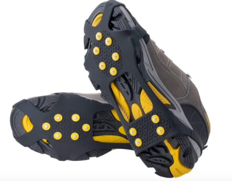 Ice Cleats. Hiking Essentials to Pack for Semi-Cold Weather