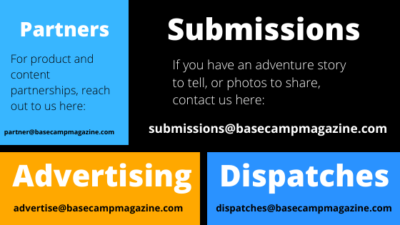 how to contact base camp magazine for submissions, partnerships, dispatches and advertising