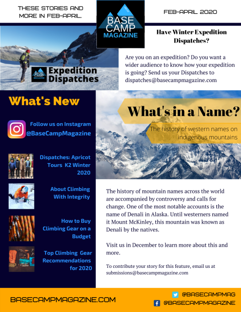 Base Camp Magazine Feb-April 2020 newsletter
