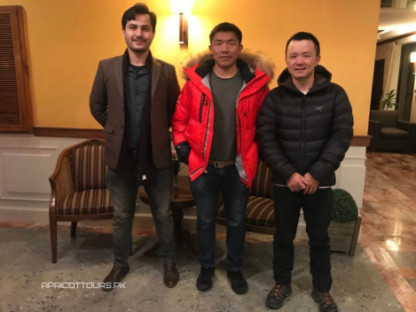 k2 winter 2020 Mingma G, Gao Li and their Liaison Officer arrived in Skardu